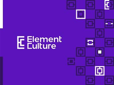 Element Culture, logo design for interior design company ce ec architecture corporate pattern modular c e letter mark monogram brand identity branding creative flat 2d geometric vector icon mark symbol logo design logo