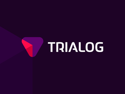 Trialog, TR / AI / Software dialog, logo design artificial intelligence it beam vector icon mark symbol logo design logo interactive dynamic flat 2d geometric dialogue between software creative colorful brand identity branding ai evolution upwards letter mark monogram t arrow rocket ascending