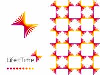 Life + Time, management app logo design, L + T monogram