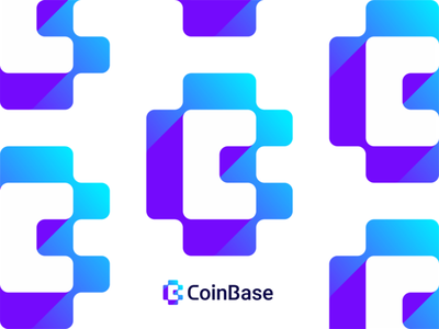 CoinBase logo design: CB negative space monogram finance financial vector icon mark symbol negative space logo design logo letter mark monogram flat 2d geometric fintech digital currency cryptocurrency crypto network creative cb c brand identity branding blocks blockchain block chain bitcoin coins money bc b