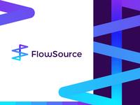 FlowSource: looping FS monogram for productivity app logo design
