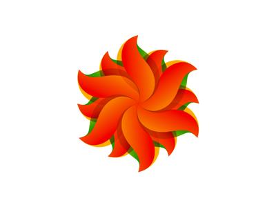 Sun from S letter / logo design symbol