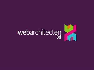 Web Architecten logo design sub-branding: 3d