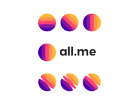 all Me, logo design for social media network ecosystem