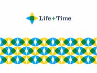 Life + Time, management app logo design, L + T monogram + eye