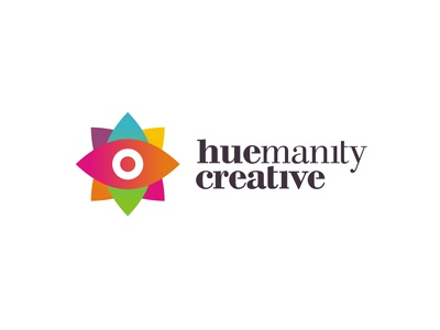 Huemanity Creative logo design gods eye creative colorful logo design logo design logo designer logotype type typography typographic brand identity branding custom made custom humanity hue latino start up startup start-up graphic design web design hispanic usa hospitals clinics governmental