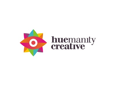 Huemanity Creative logo design eye type typography gods eye governmental clinics hospitals usa hispanic web design graphic design start-up startup start up latino hue humanity custom made branding identity brand