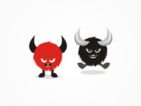 Beasts + monsters characters / icons / logo design symbols