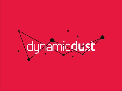 Dynamic Dust logo design for games and apps developer applications developer apps developer games developer game developer development developer applications apps gaming games custom custom made branding identity brand typographic typography type logotype logo designer logo design design logo colorful creative