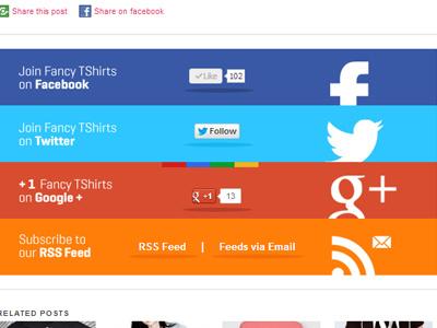 blog post social area google rss feeds web web design social facebook twitter google google plus rss feed rss via email email newsetter t-shirts fancy