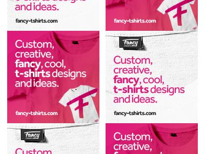 Fancy t-shirts banner ads design