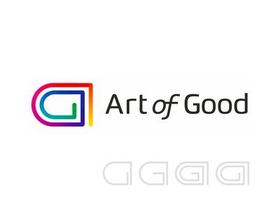 Art of Good, AG monogram, art and charity logo design