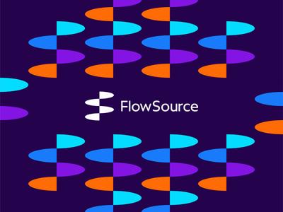 FlowSource: flowing FS monogram for productivity app logo design