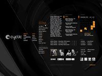 cyclic 01 website layout design