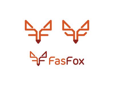 Fox, FF monogram, logo design for technology consultant