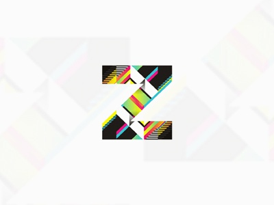 Z abstract technical monogram / logo design symbol creative colorful logo design logo design logo designer logotype type typography typographic brand identity branding custom made custom z monogram symbol icon technic technical abstract lines geometrical symmetrical symmetry