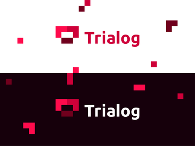 Trialog (TR / AI / Software dialog) logo design: T + modules t artificial intelligence tetris lego construction blocks vector icon mark symbol logo design it interactive evolution flat 2d geometric dynamic dialogue between software modules creative colorful brand identity branding construction letter mark monogram ai tr real time