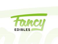Fancy Edibles logo design for creative edibles blog