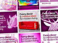 Fancy Deco banner ads design