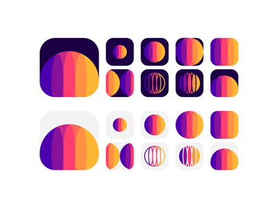 Planet explorations: from logo design symbol to app icon for sale space universe token circle sphere coin social media rewards colorful stars planets ecosystem social network app icon planet brand identity branding creative flat 2d geometric vector icon mark symbol logo design logo