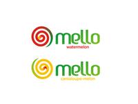Mello, melon juice logo design sub-branding