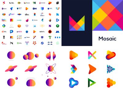 2019 top 4 portfolio vector icon mark symbol social media network multimedia entertainment game games gaming video videos play best creative colorful logo design logo shots likes dribbble popular top 4 2020 2019 2018