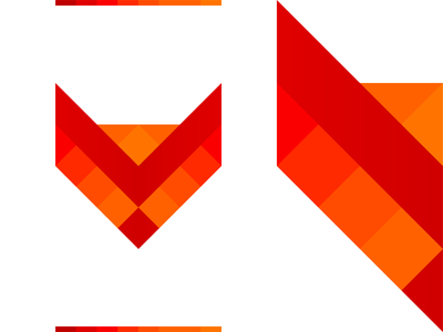 Creative fox logo design symbol: fox + pencil dog modern abstract minimal minimalist minimalistic tech technology machine learning artificial intelligence ai pencil colorful pets animals wild fox brand identity branding creative flat 2d geometric vector icon mark symbol logo design logo