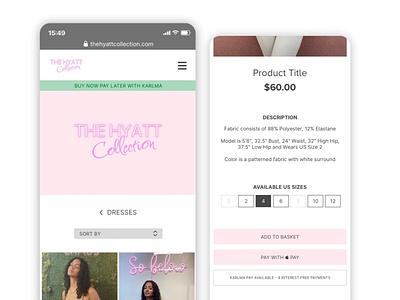 Boutique Clothing Shop Mobile Website clean simple minimal design ui buttons logo responsive android ios shop online store mobile