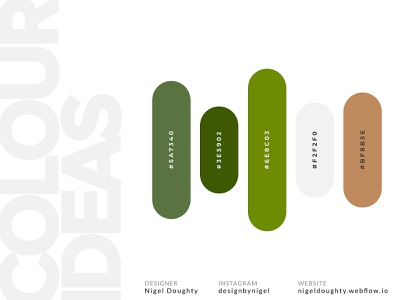 Colour Palette Ideas webdesign app inspiration palette clean creativity idea green summer colourpalette color colour