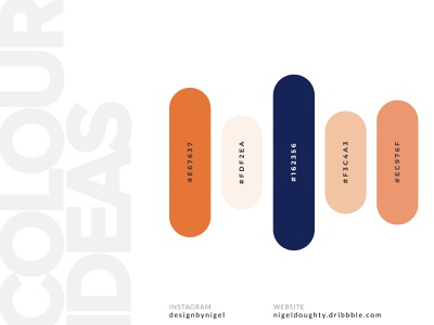 Colour Palette idea whitespace light orange navy blue dark blue blue light mode branding clean ui orange is the new black orange color palette design identity brand marketing dark mode idea colour palette