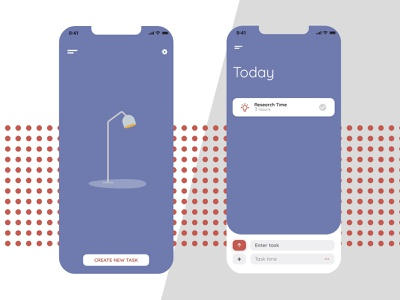 Reminder/Task App to-do reminder focus graphic design concept iphone x ux design ui design mobile design mobile iphone ios colour branding minimal iphonex app design simple clean