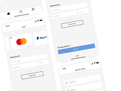 Payment Screen inspiration dailyui colour minimal identity iphonex ios card paypal payment checkout visual design ui clean simple