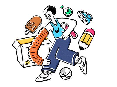 Hero Illustraation editorial illustration human man icons nike basketball ui illustration hero illustration procreate illustraion