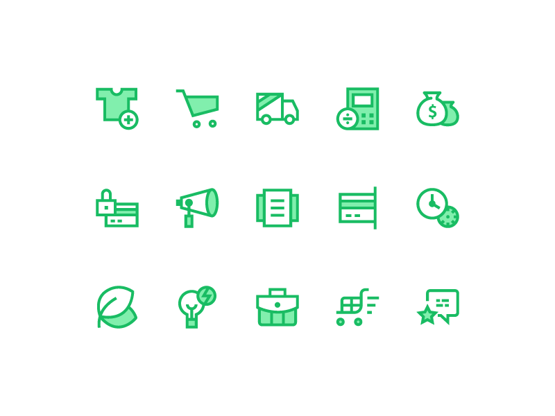 Icons for E-commerce (Freebie) flat web e-commerce download ai psd icons free