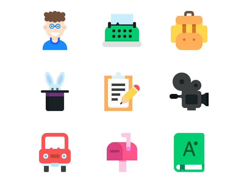 9 Flat Icons (Freebie) ai psd freebie download free icons flat