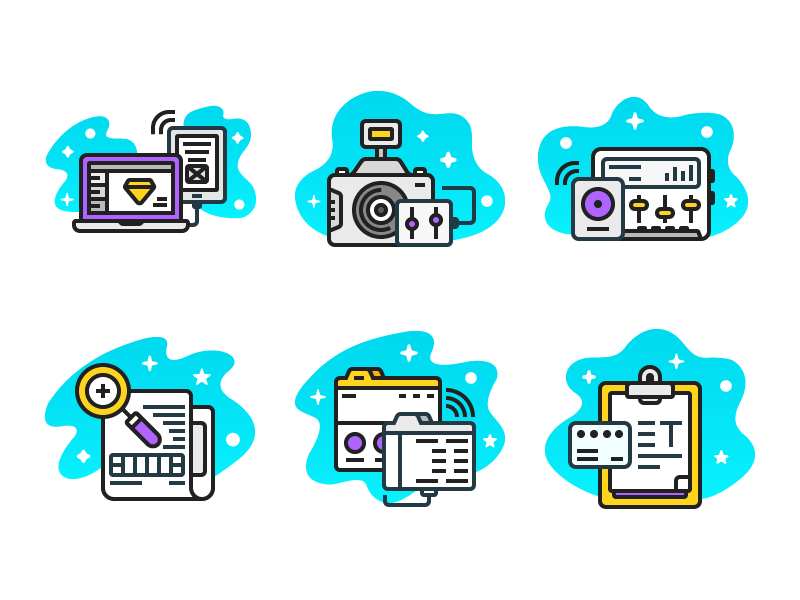 Whatwedo Icons (Freebie) branding web ui sound design photography research ai freebie flat icon