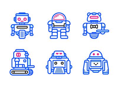 Robots Icons
