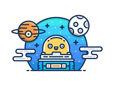 Astronaut cover blog moon icon cosmos astronaut space illustration