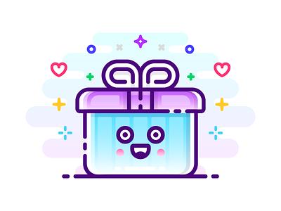 Gift Illustration editorial blog celebration present flat mbe emoji line illustration