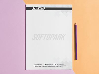 Letterhead design for softopark graphicdesign logodesign design letterheadlogo letterheads letterhead template letterhead design letterhead