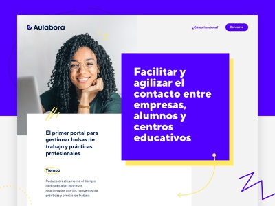 Aulabora website design website development dev web codegram user interface ui ui design