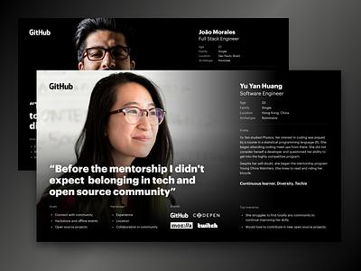GitHub Stars Personas persona github codegram ux user interface ui design ui