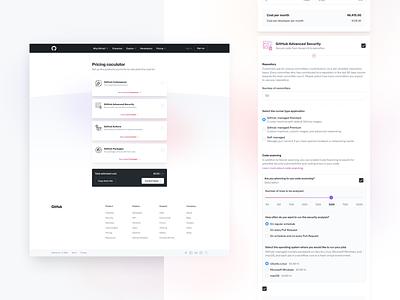 GitHub Pricing Calculator ux codegram user interface design ui ui design