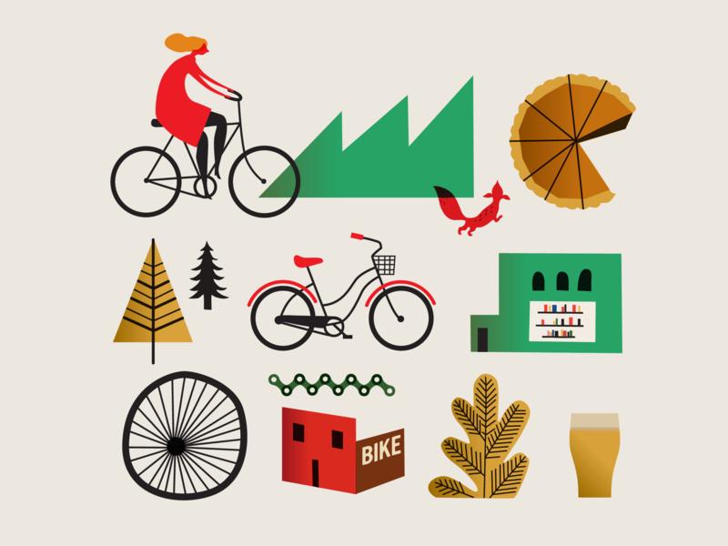 Spoke Lore Book Cover website silkscreen logo web identity animation forest nature mark bike design icon branding app ui ux vector illustrator book cover design illustration