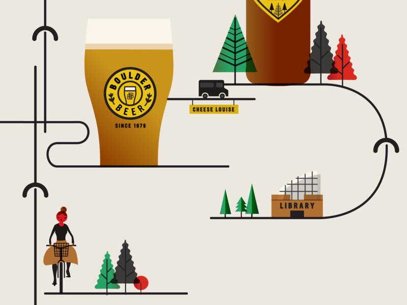 Spoke Lore Wild Woods Brewery animation illustrator book cover design forest bike vector ui ux design icon branding app illustration
