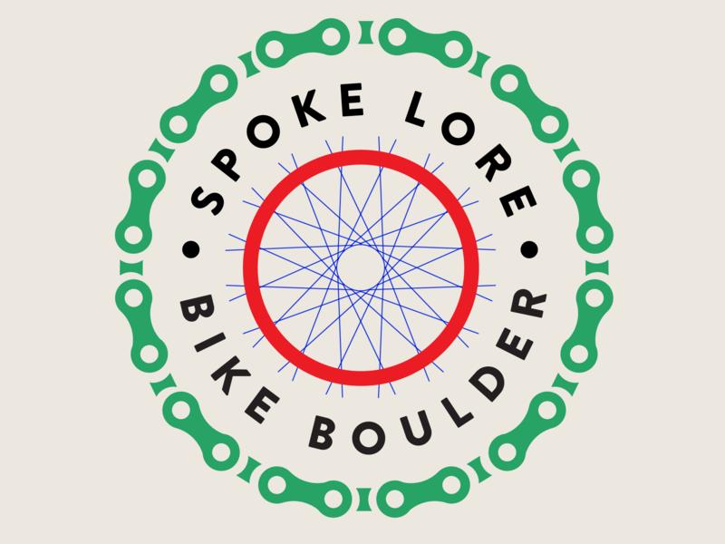 Spoke Lore Badge web mark logo nature identity book cover design forest bike animation vector ux ui illustrator app design icon branding typography illustration