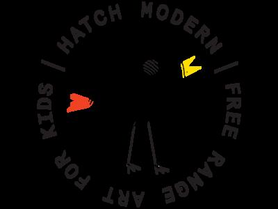 Hatch Modern Badge kidsbrand childbranding badge badge logo badge design ui ux branding icon app website typography logo vector illustrator design illustration