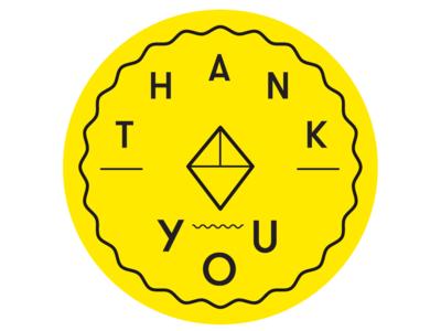 Thank You Sweet Beyond Badge minimal lettering app design illustrator website typography logo vector ux ui icon branding