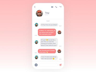 Daily UI #013- Direct Messaging message app messages message meetup friends chat app chatapp chat 013 uiux dailyuichallenge design uxui colors ux design art ui design app dailyui