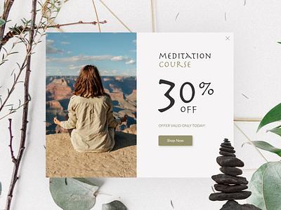 Daily UI #016- Pop-Up / Overlay popup design offer discount relaxing relax mindfulness meditation popup uiux dailyuichallenge design uxui colors ux design art ui design app 016 dailyui
